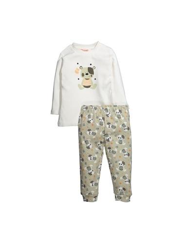 Zeyland Cute Teddy Baskılı Pijama Takımı (1-4yaş) Cute Teddy Baskılı Pijama Takımı (1-4yaş) Ekru